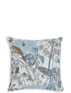 Jakarlı Kuş Desenli Yastık