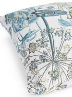 Ev Mavi Jakarlı Kuş Desenli Yastık