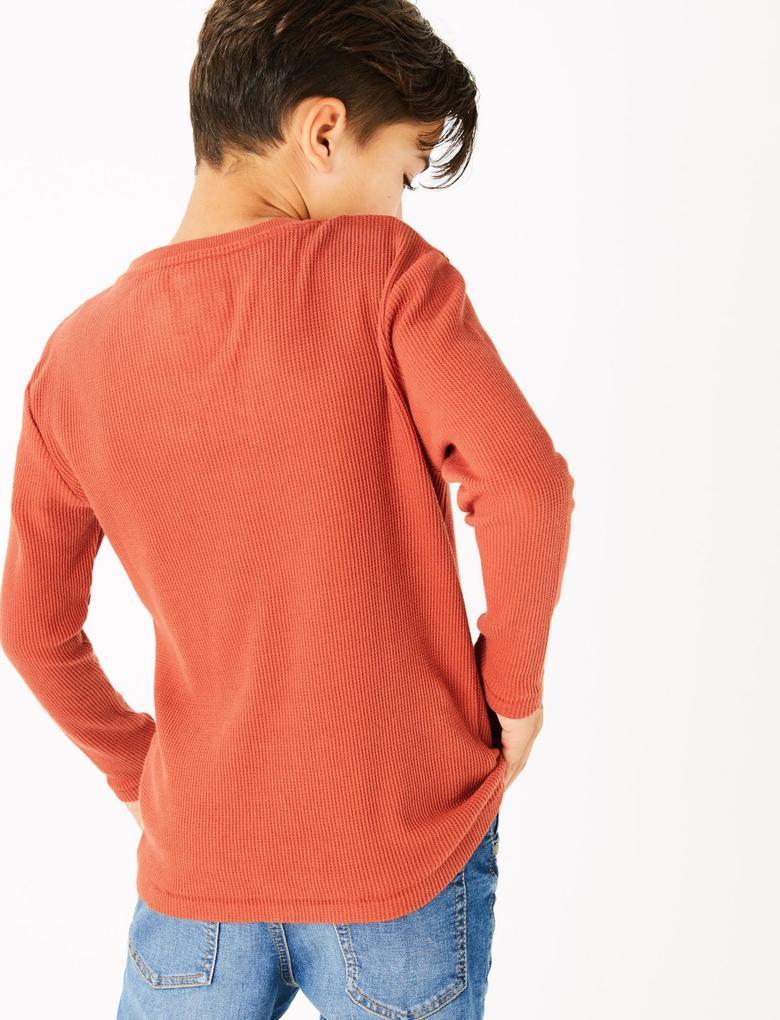 Fitilli Uzun Kollu T-Shirt