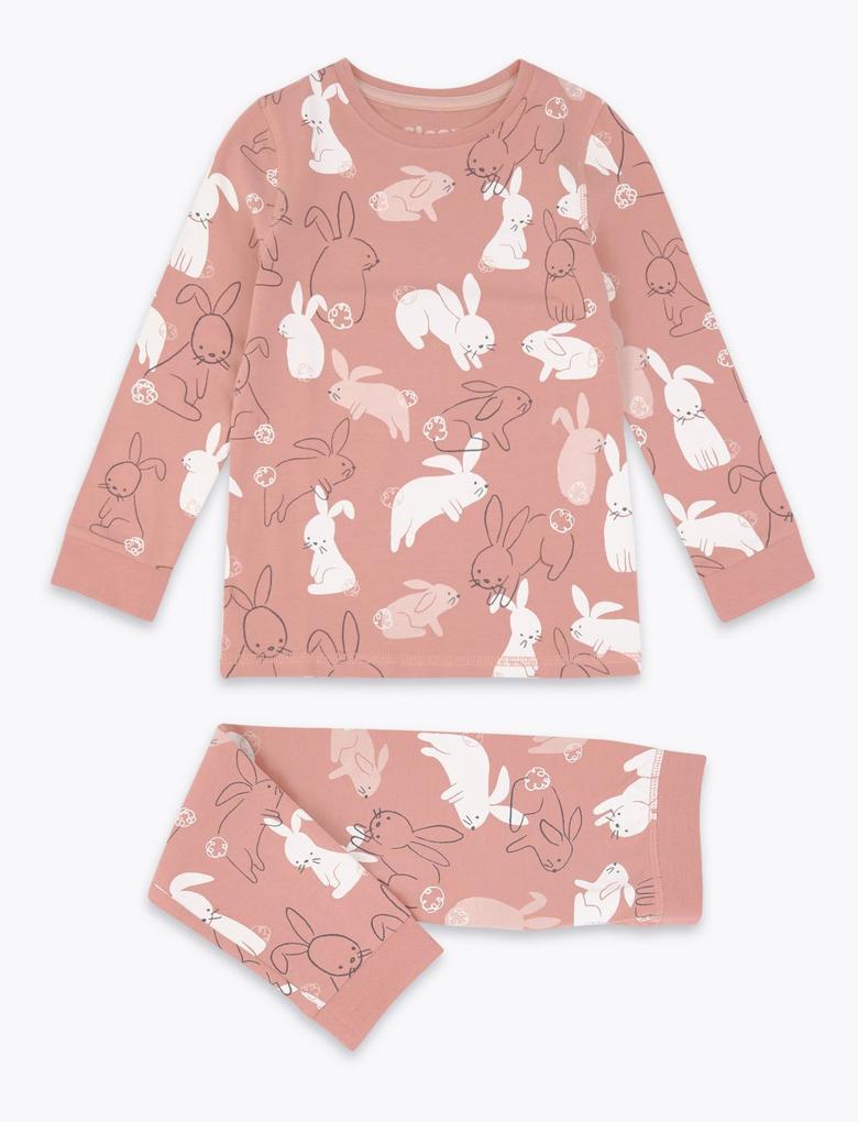 Tavşan Desenli Pijama Takımı