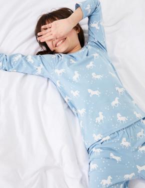 2'li Unicorn Desenli Pijama Seti