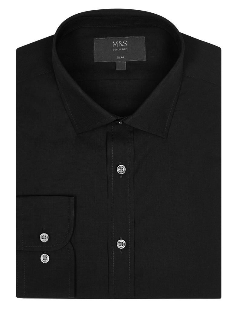 Pamuk Karışımlı Slim Fit Gömlek