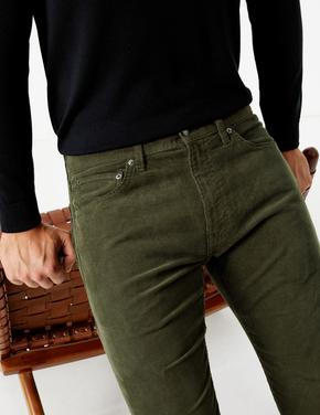 Slim Fit 5 Cepli Kadife Pantolon
