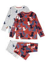 Erkek Çocuk Pembe 2'li Dinozor Desenli Pijama Seti