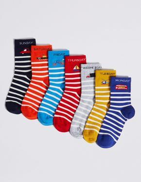 7'li Haftanın Günleri Temalı Çorap Seti