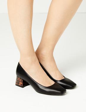 Kadın Siyah Alçak Topuklu Ayakkabı