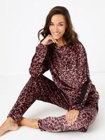 Leopar Desenli Polar Pijama Altı
