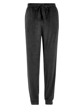 Kadın Siyah Polar Pijama Altı