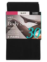 3'lü Sensor™ 30 Denye Külotlu Çorap