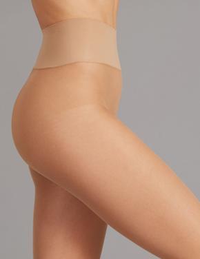 Kadın Kahverengi 20 Denye Dikişsiz Külotlu Çorap