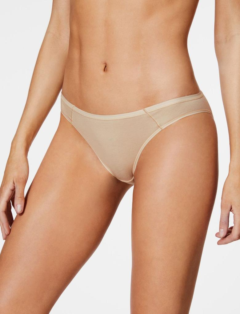 Bej 5'li Supima® Bikini Külot Seti
