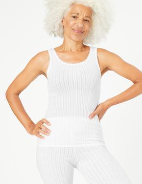Kadın Beyaz 2'li Termal Atlet Seti
