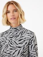 Kadın Gri Desenli Shift Elbise