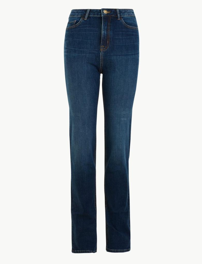 Lacivert Magic Lift Straight Leg Jean Pantolon