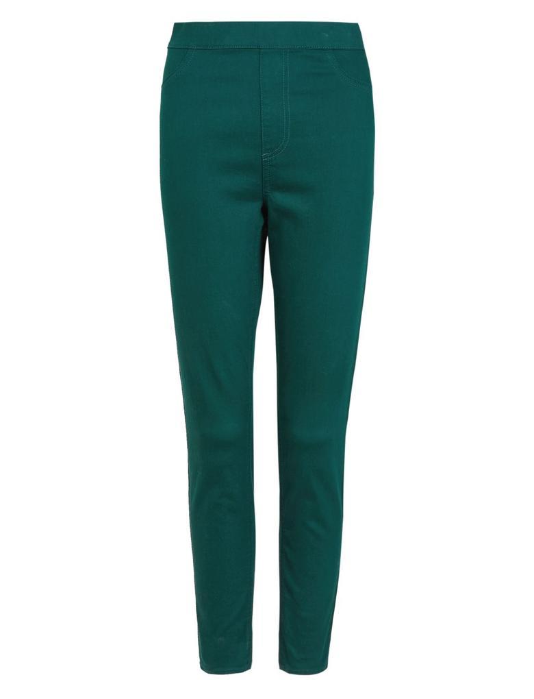 Kadın Yeşil Pamuklu Jegging Tayt Pantolon