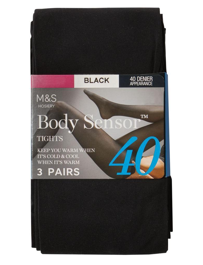 Siyah 3'lü Sensor™ 40 Denye Külotlu Çorap