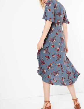 Fırfırlı Anvelop Elbise