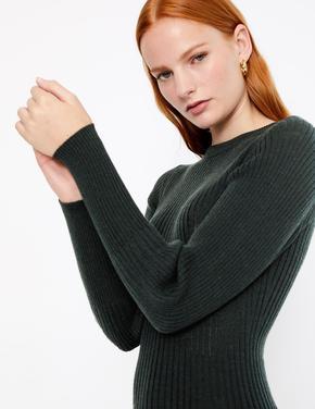 Merino Fitilli Triko Elbise