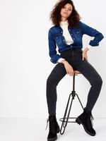Siyah Yüksek Belli Ankle Jean Pantolon