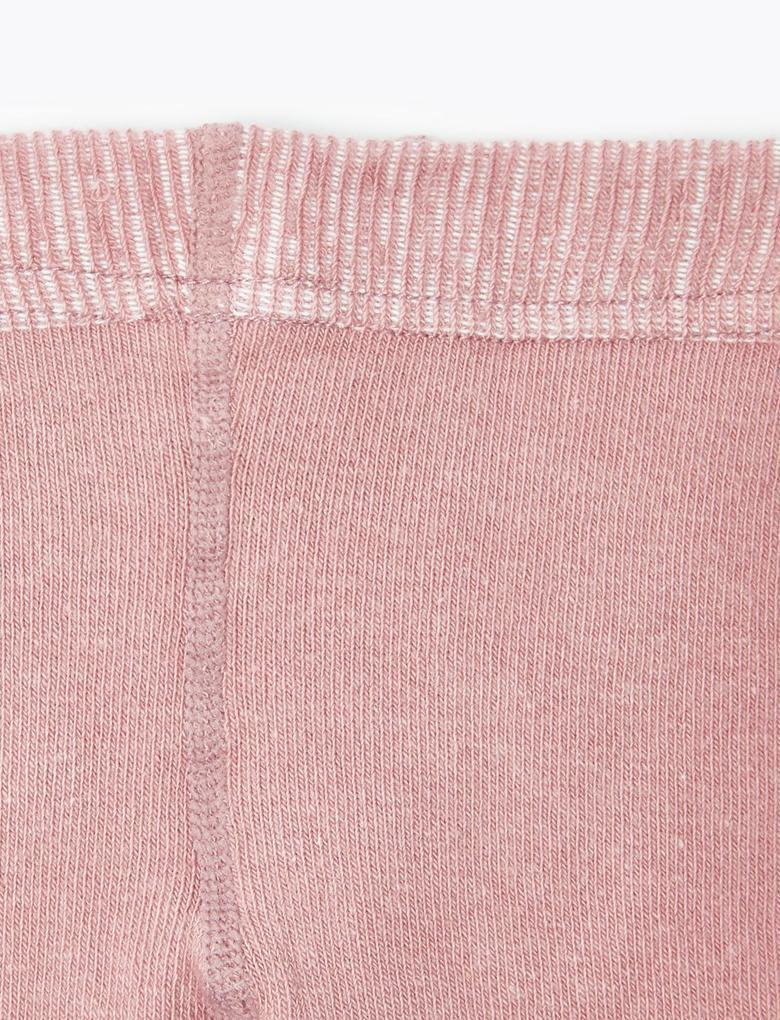 Pembe Fitilli Külotlu Çorap