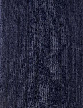 Kız Çocuk Lacivert Fitilli Külotlu Çorap