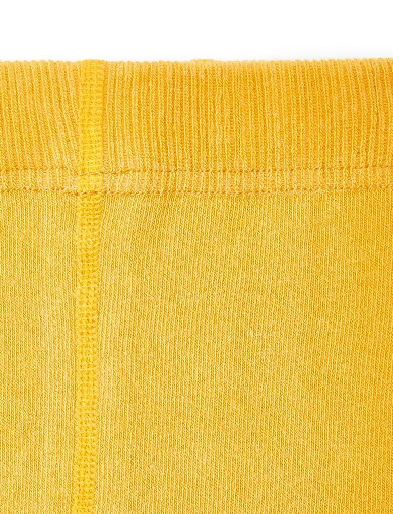 Çocuk Sarı Fitilli Külotlu Çorap