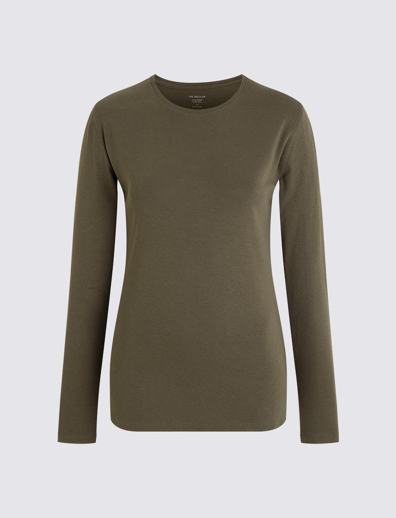 Saf Pamuklu Regular Fit T-shirt