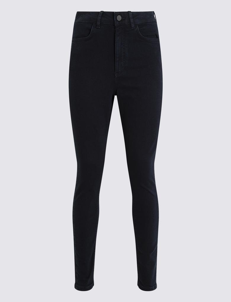 Kadın Lacivert Pamuklu Straight Leg Pantolon