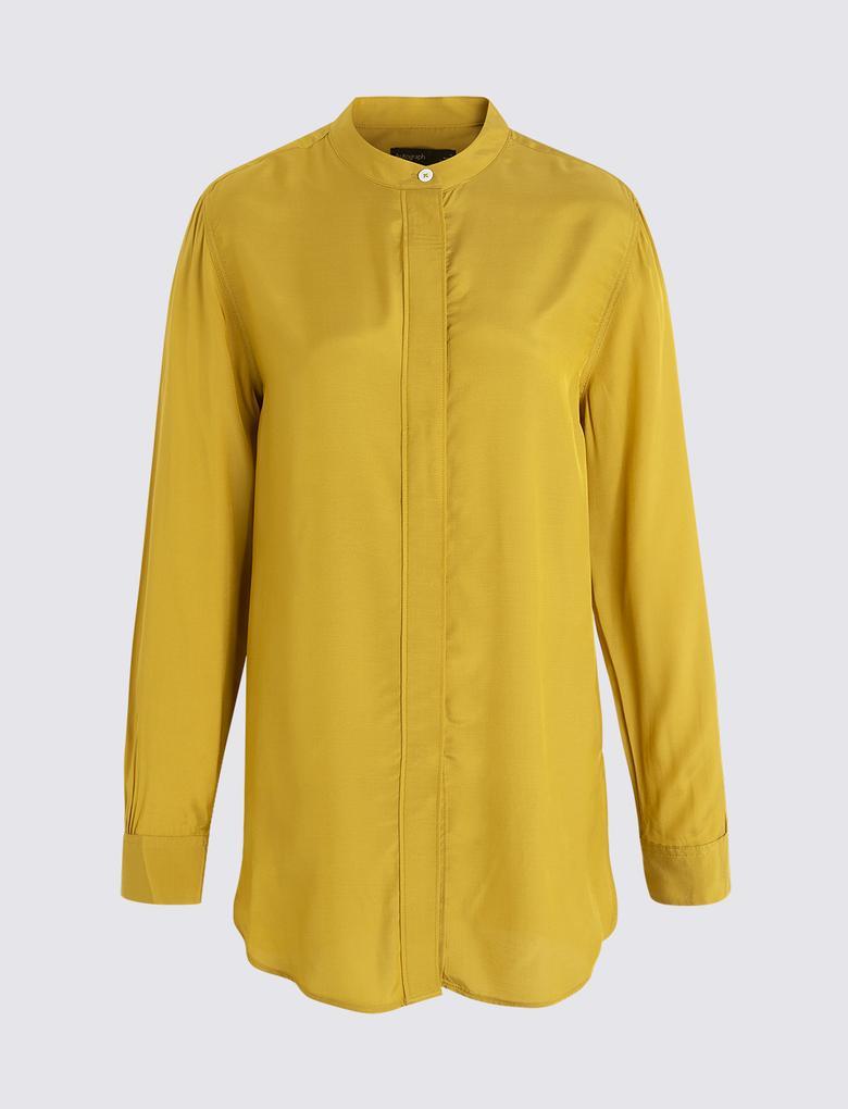 Kadın Sarı Uzun Kollu Tunik
