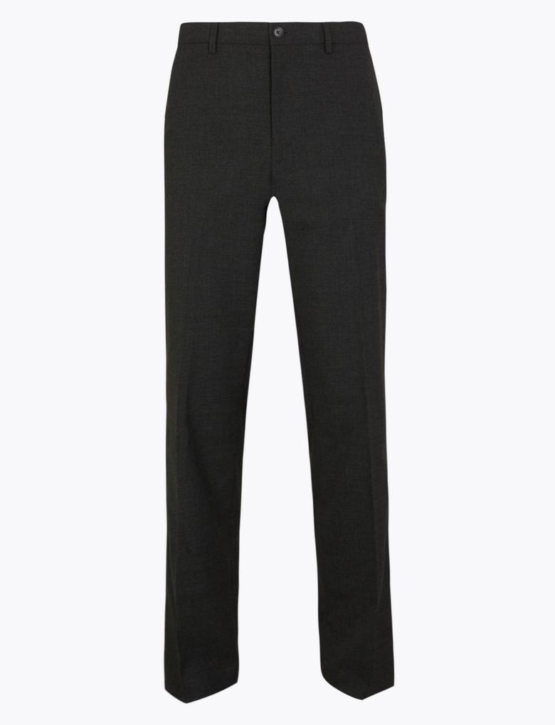 Regular Streç Ekose Pantolon