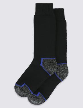 2'li  Freshfeet™ Kalın Kumaşlı Çorap Seti