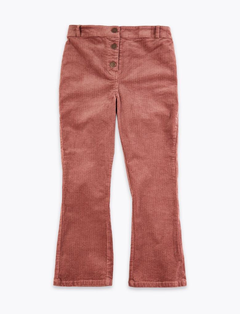 Geniş Paçalı Kadife Pantolon
