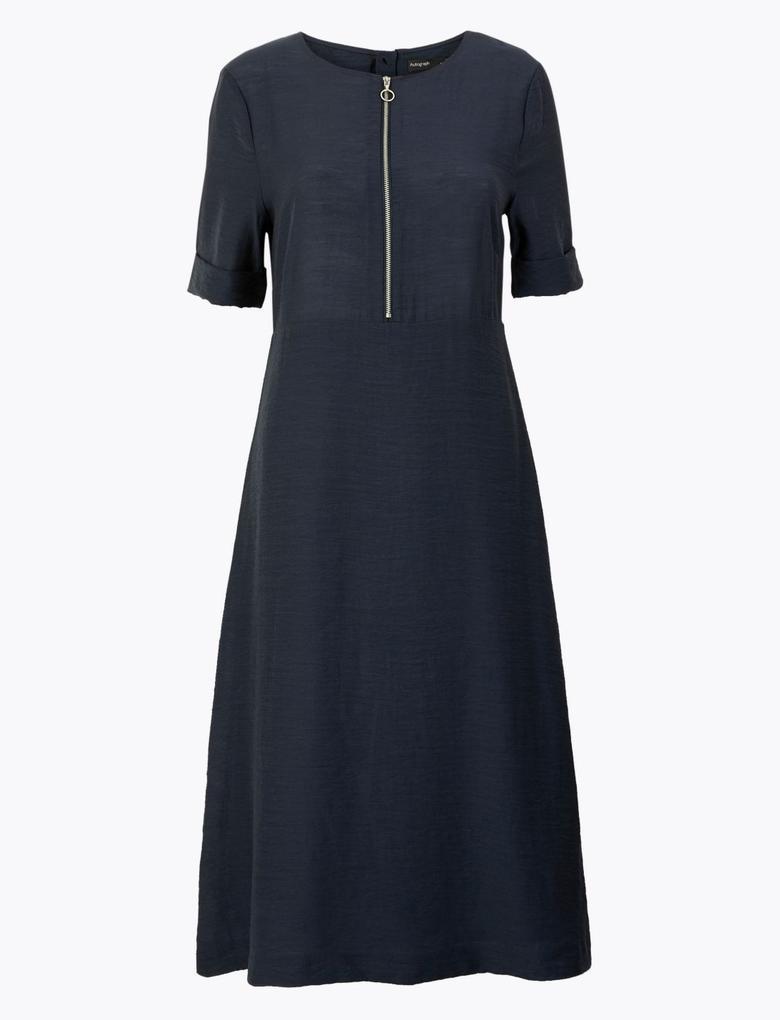 Kadın Lacivert Desenli Elbise
