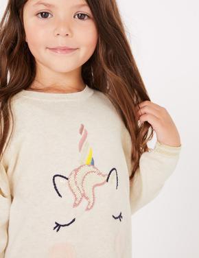 Unicorn Desenli Elbise Ve Tayt Takımı