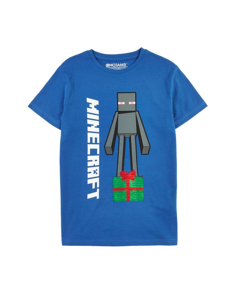 Erkek Çocuk Multi Renk Minecraft™ Payetli T-Shirt