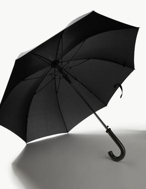 Erkek Siyah Klasik Şemsiye (Windtech™ ve Stormwear™ Teknolojileri ile)