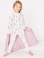 Balerin Desenli Pijama Takımı