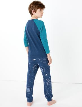 Uzay Desenli Pijama Takımı
