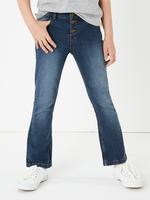 Kız Çocuk Mavi Geniş Paça Jean Pantolon