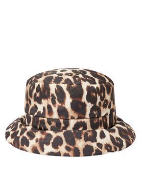 Leopar Desenli Bucket Şapka