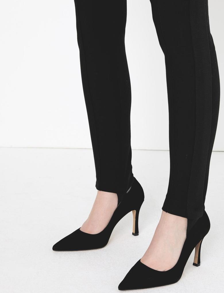 Siyah Yüksek Belli Skinny Jean Pantolon