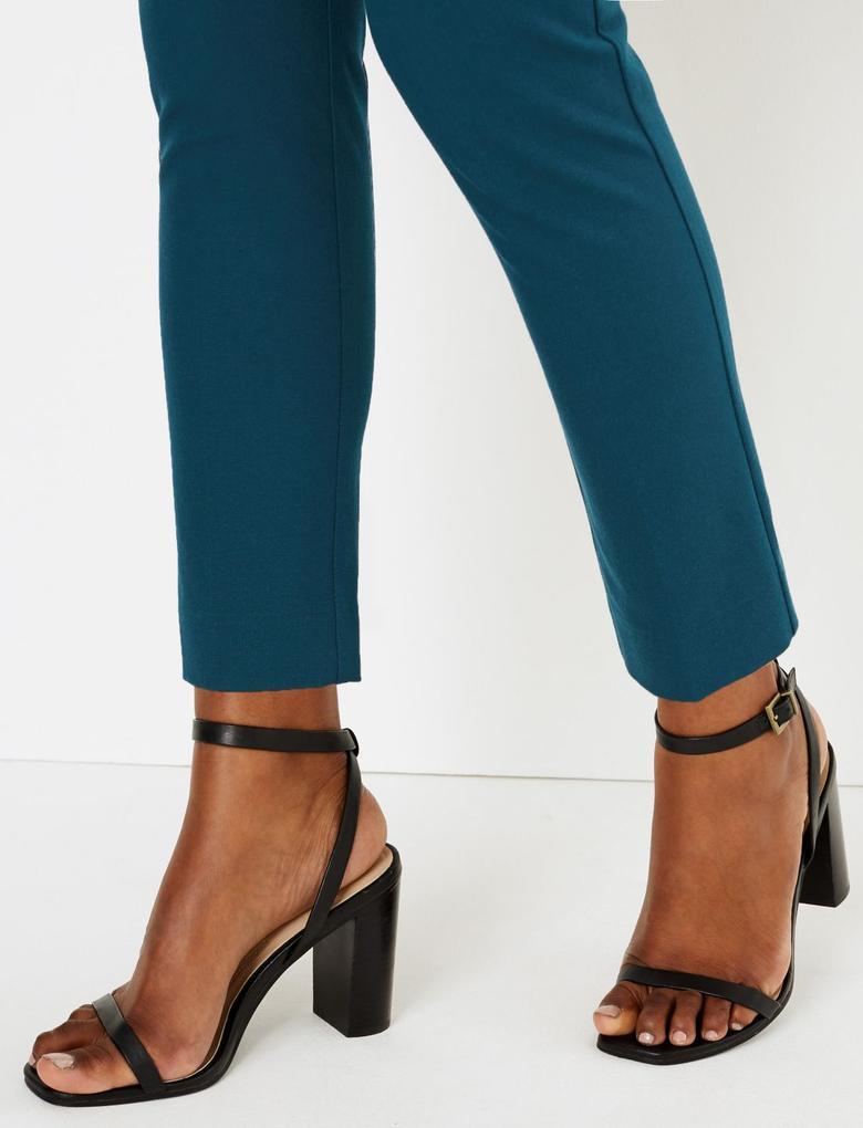 Pamuklu Slim Leg Ankle Pantolon