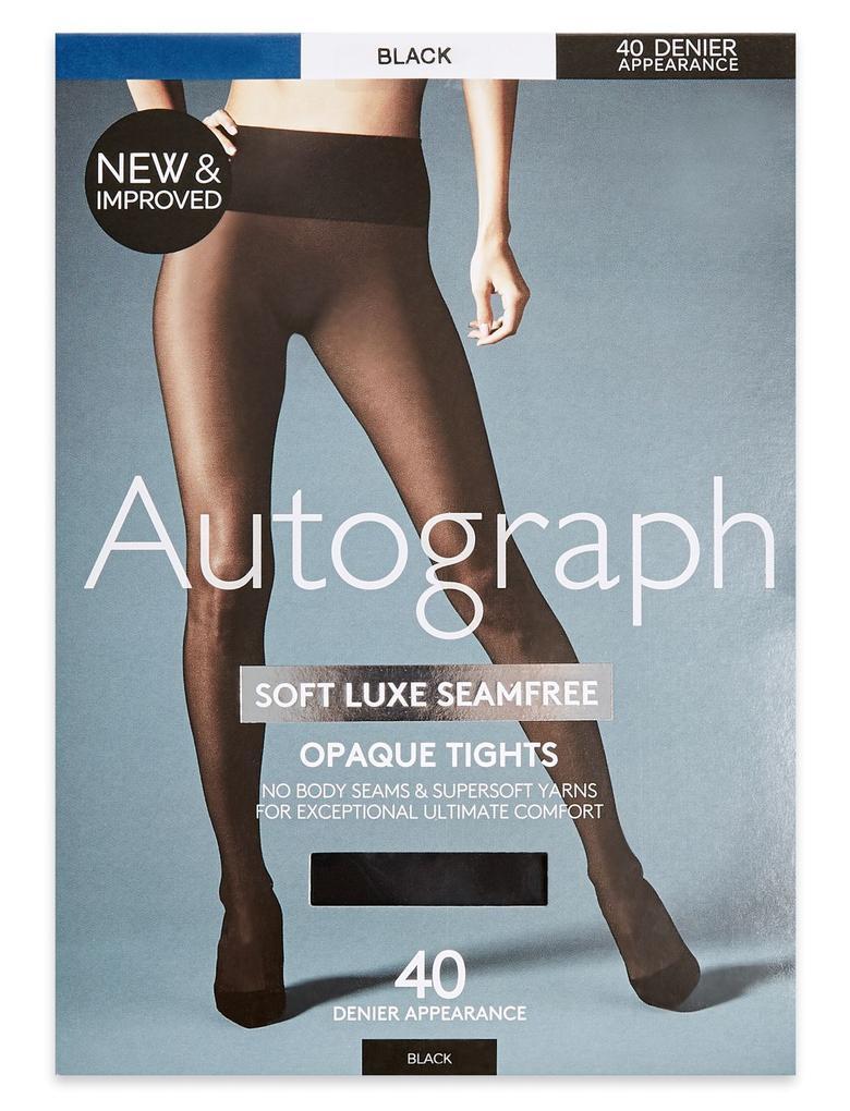 Siyah 40 Denye Yumuşak Dikişsiz Opak Külotlu Çorap