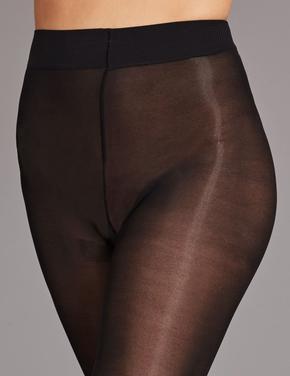 Siyah 40 Denye İpeksi Yumuşaklıkta Külotlu Çorap