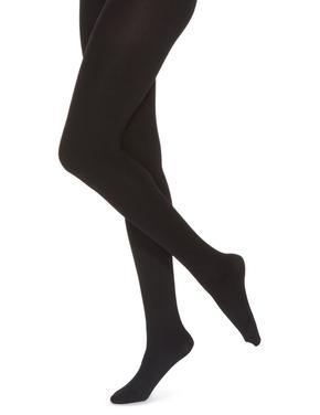 Siyah 100 Denye Kadife Dokulu Opak Külotlu Çorap