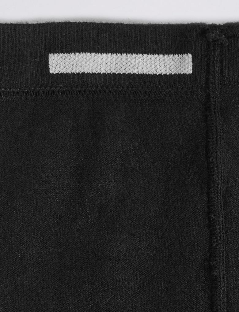 Kız Çocuk Siyah 2'li Yünlü Freshfeet™ Termal Külotlu Çorap (5 - 14 Yaş)