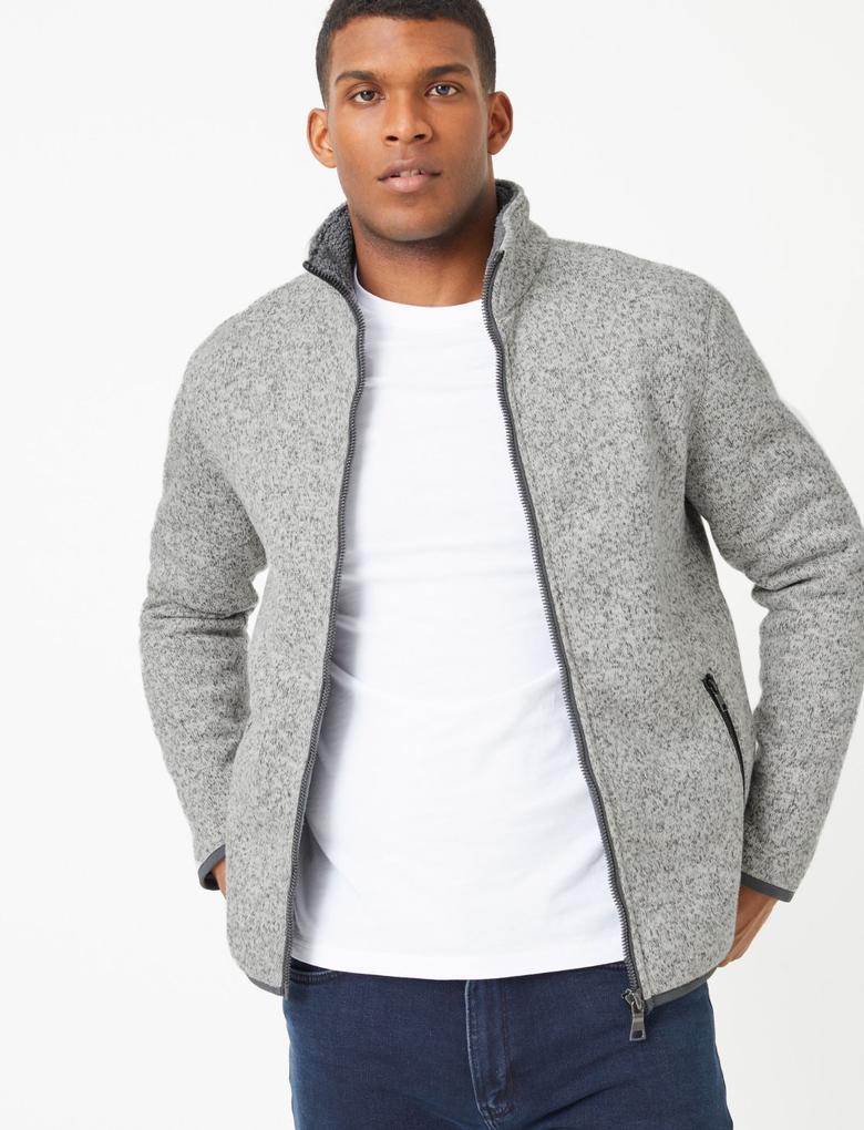 Fermuarlı Sweatshirt