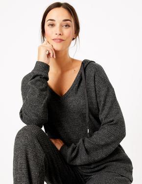 Kapüşonlu Pijama Üstü