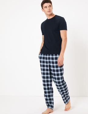 2'li Ekose Pijama Altı Seti