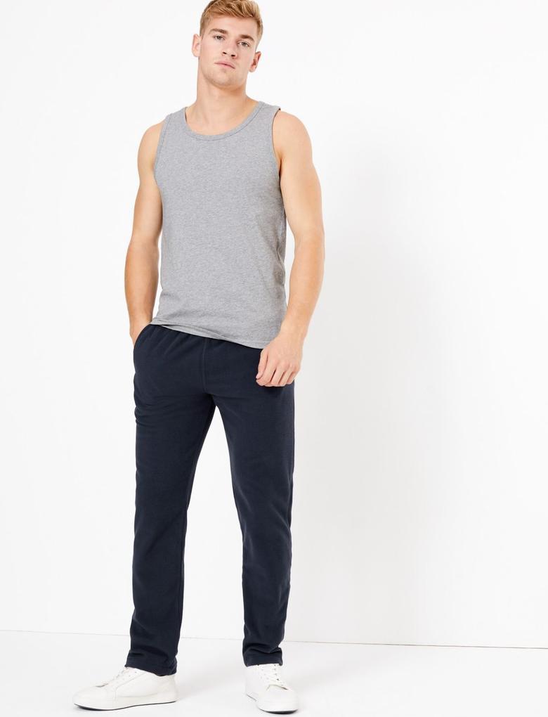 Erkek Lacivert Polar Jogger Pantolon